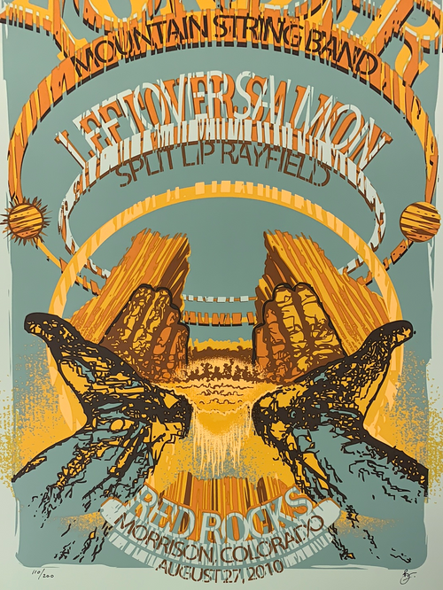 Yonder Mountain String Band - 2010 poster Red Rocks Morrison, CO