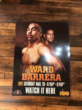 Boxing poster Ward vs. Barrera HBO PPV