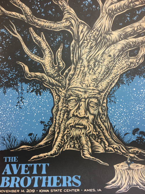Avett Brothers - 2019 Todd Slater poster Ames, IA Iowa State Center