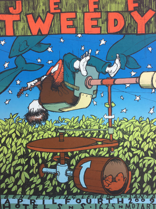 Jeff Tweedy - 2009 Jay Ryan poster Chicago, IL Hotel SNS