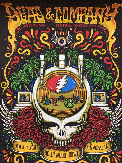 Dead & Company - 2019 Matt Leunig poster Hollywood, CA Hollywood Bowl