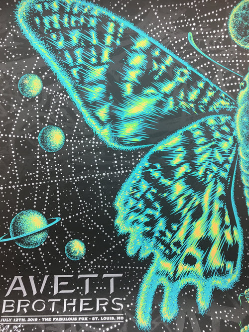 Avett Brothers - 2019 Todd Slater poster St. Louis, MO Fox Theatre