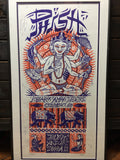 Phish - 2000 Jim Pollock poster Columbus, OH Polaris Amphitheater, Framed