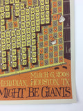 They Might Be Giants - 2008 Todd Slater Poster Houston, TX Meridan