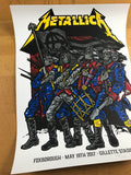 Metallica - 2017 Ames Brothers poster Foxboro, MA Gilette Stadium S/N