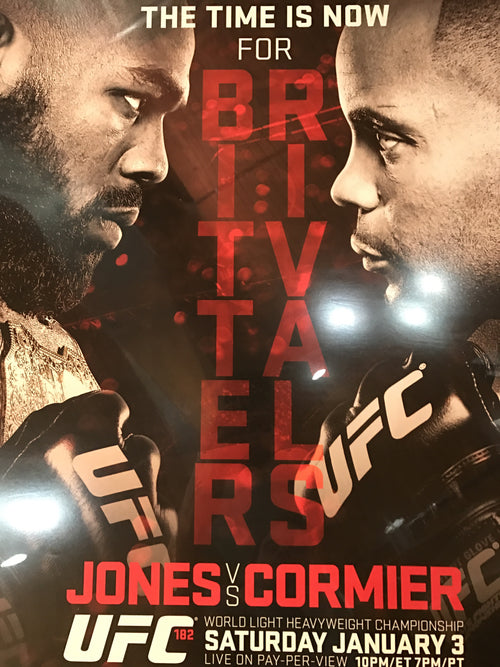 UFC 182 poster Jones vs. Cormier live PPV MGM