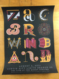 Zac Brown Band - 2017 Southern Reel Poster Austin Moody Theater