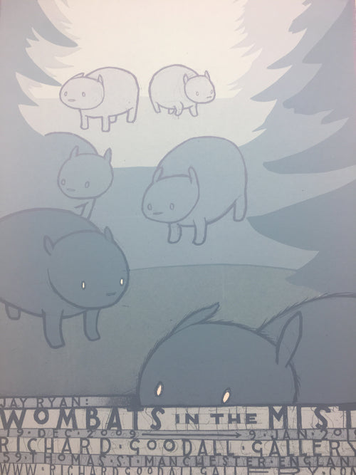 Wombats in the Mist - 2009 Jay Ryan poster Manchester, GBR RGG