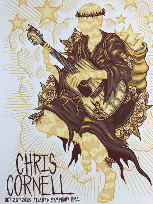 Chris Cornell - 2015 Jim Mazza poster Atlanta Symphony Hall, GA
