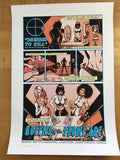 Queens of the Stone Age - 2008 Justin Hampton Poster Saskatoon, CAN Odeon Events