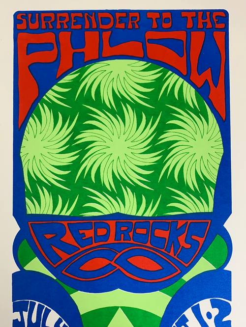 Phish - 2009 Tripp poster Red Rocks Morrison, CO Blue