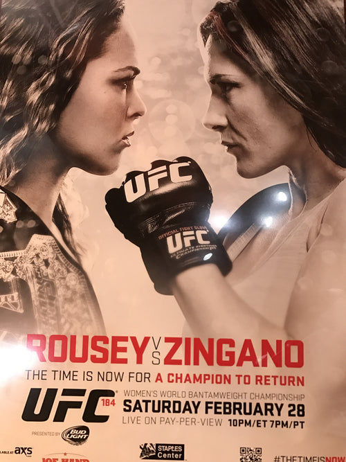UFC 184 poster Rousey vs. Zingano Staples Center