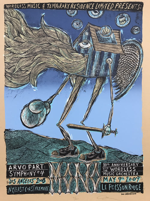Arvo Part Symphony #4 - 2009 Dan Grzeca poster Los Angeles
