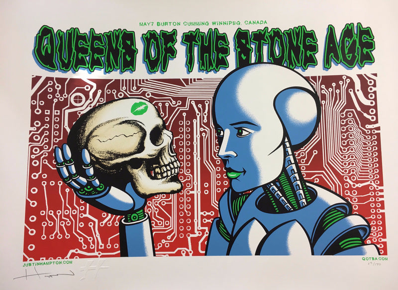 Queens of the Stone Age - 2008 Justin Hampton Poster Winnipeg, CAN Burton Cummin