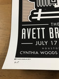The Avett Brothers - 2015 Uncle Charlie poster Houston, Texas, Cynthia Woods