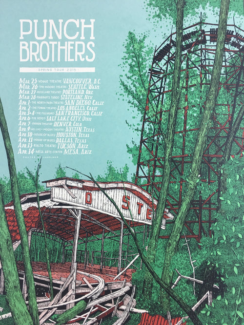 Punch Brothers - 2015 Landland Poster Spring Tour