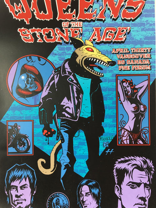 Queens of the Stone Age - 2008 Justin Hampton Poster Vancouver, BC, CAN PNE Foru