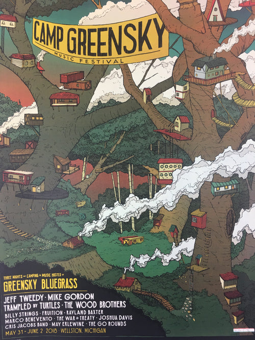 Camp Greensky - 2018 Landland Poster Wellston, MI