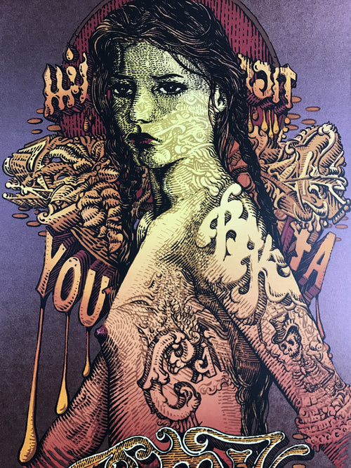 Blink 182 - 2016 David Welker poster, Mountain View, Shoreline Amp, CA