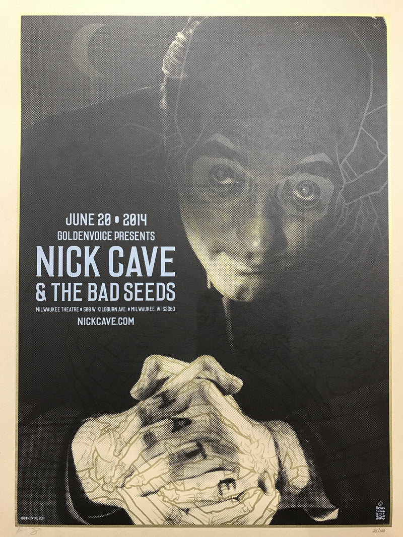 Nick Cave - 2014 Brian Ewing poster Milwaukee Theatre Wisconsin