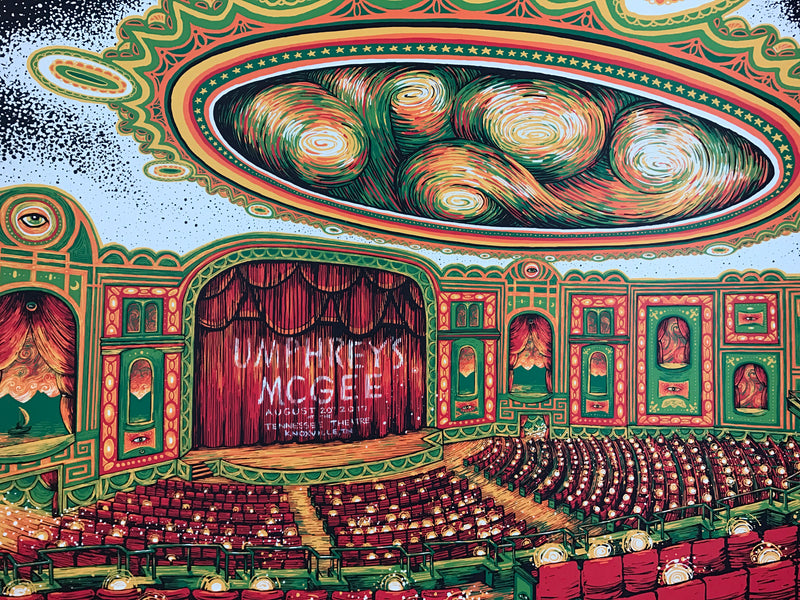 Umphrey's McGee - 2017 James Eads poster Tennessee Theatre, Knoxville