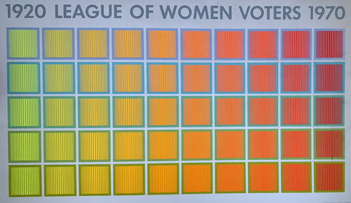1920 League of Women Voters - 1969 1970 art print poster Original Vintage