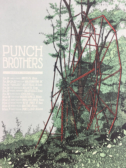Punch Brothers - 2015 Landland Poster Winter Tour