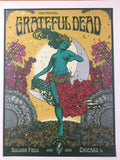 Grateful Dead - 2015 Richey Beckett Poster Chicago, IL Soldier Field