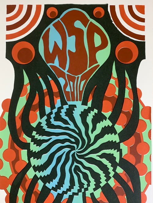 Widespread Panic - 2010 Tripp poster Red Rocks Morrison, CO