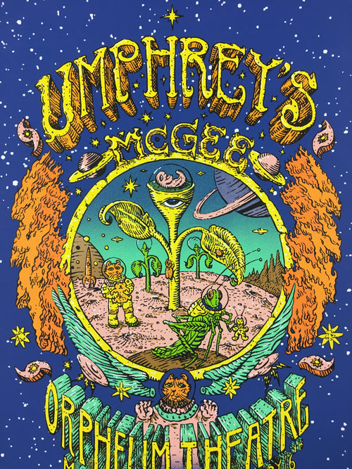 Umphreys McGee - 2013 David Welker poster Madison, WI Orpheum Theatre  Band Auto