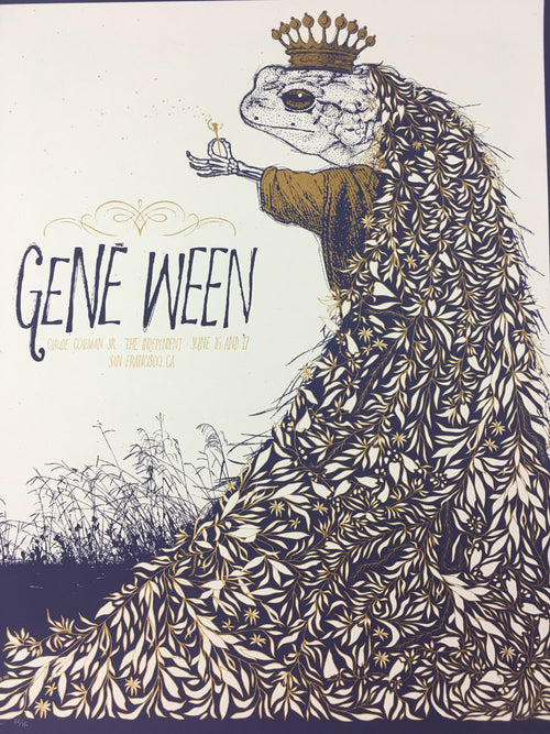 Gene Ween - 2009 Todd Slater Poster San Fransisco, CA The Independent