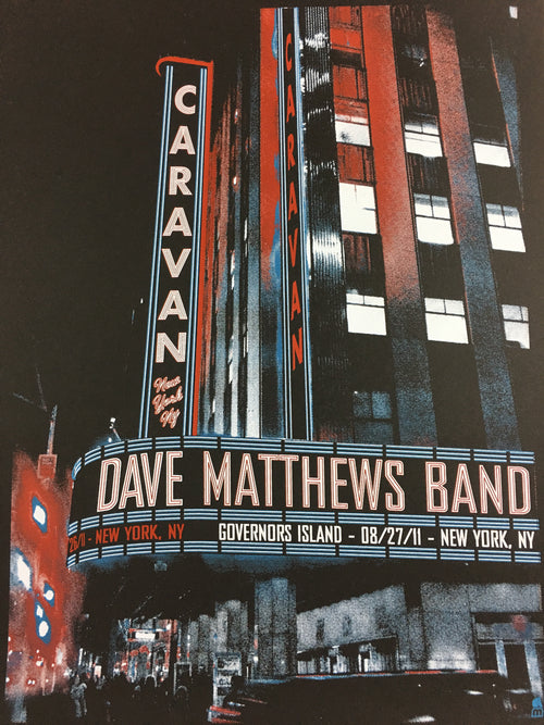 Dave Matthews Band - 2011 Methane Studios poster New York, NY Governor's Island
