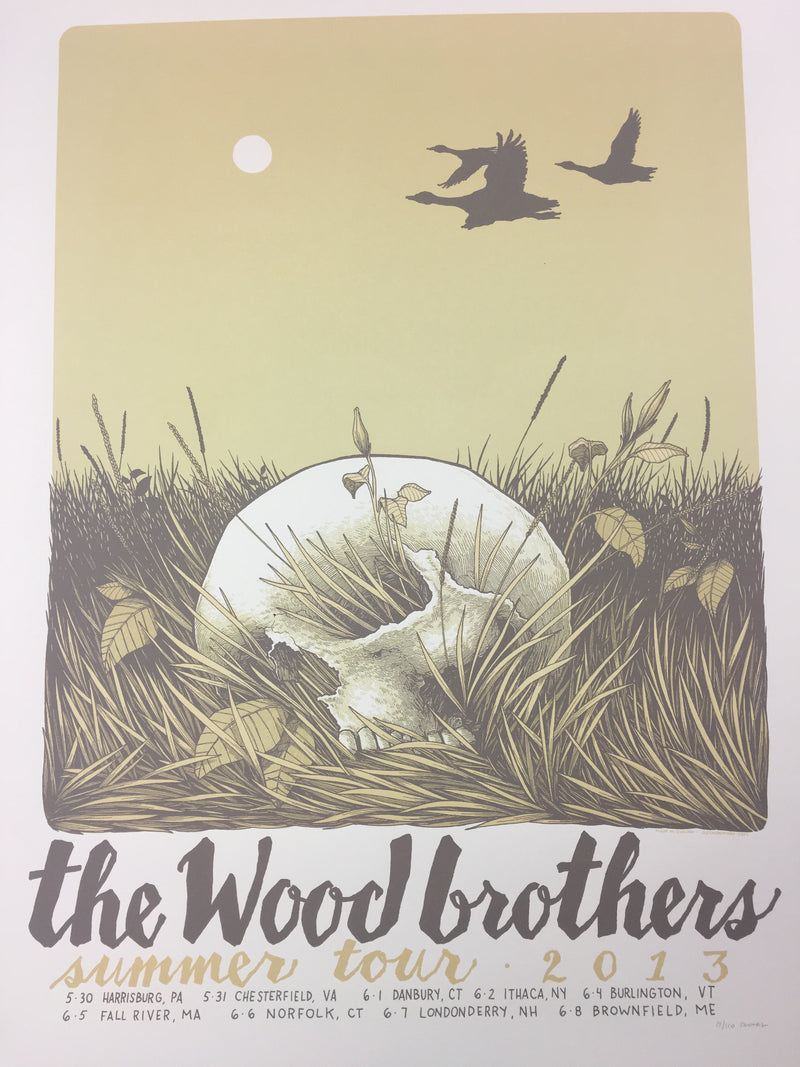 The Wood Brothers - 2013 Justin Santora Poster The Wood Brothers Summer Tour
