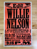 Willie Nelson - 2005 Franks Brothers poster San Antonio, Texas