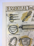 Essential Tools in Baking - 2012 Dan Grzeca Poster Art Print