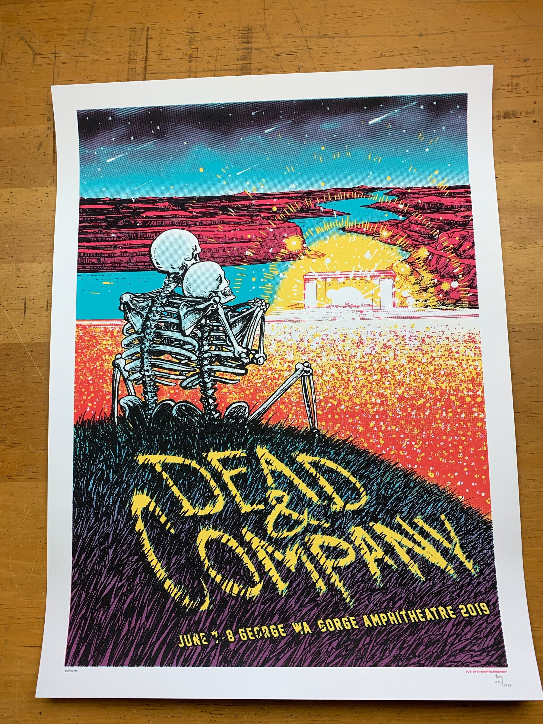 Dead & Company - 2019 Barry Blankenship Poster George, WA