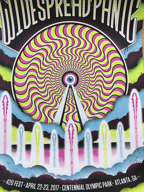 Widespread Panic - 2017 Half and Half poster Atlanta 420 Fest
