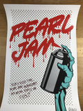 Pearl Jam - 2013 D*Face Dface poster print Seattle, WA edge wear