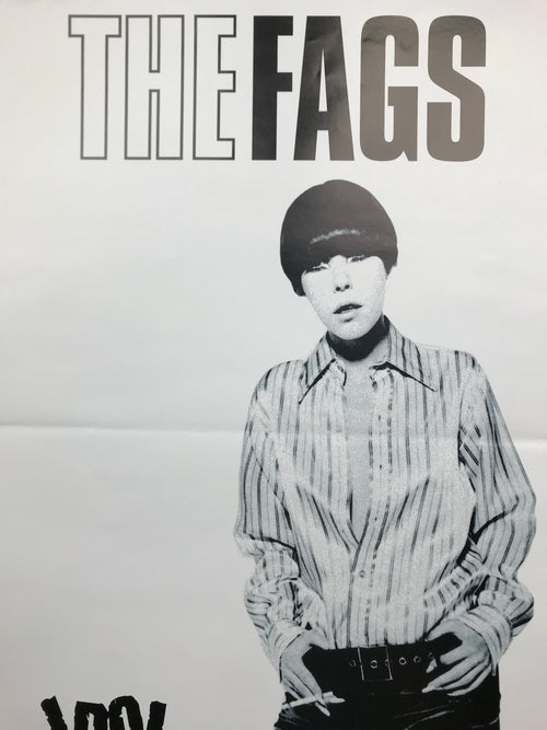 The Fags - Idol Records original poster Detroit, MI Dallas, TX