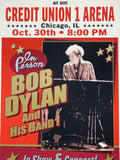 Bob Dylan - 2019 Geoff Gans Poster Chicago UIC Credit Union 1 Arena