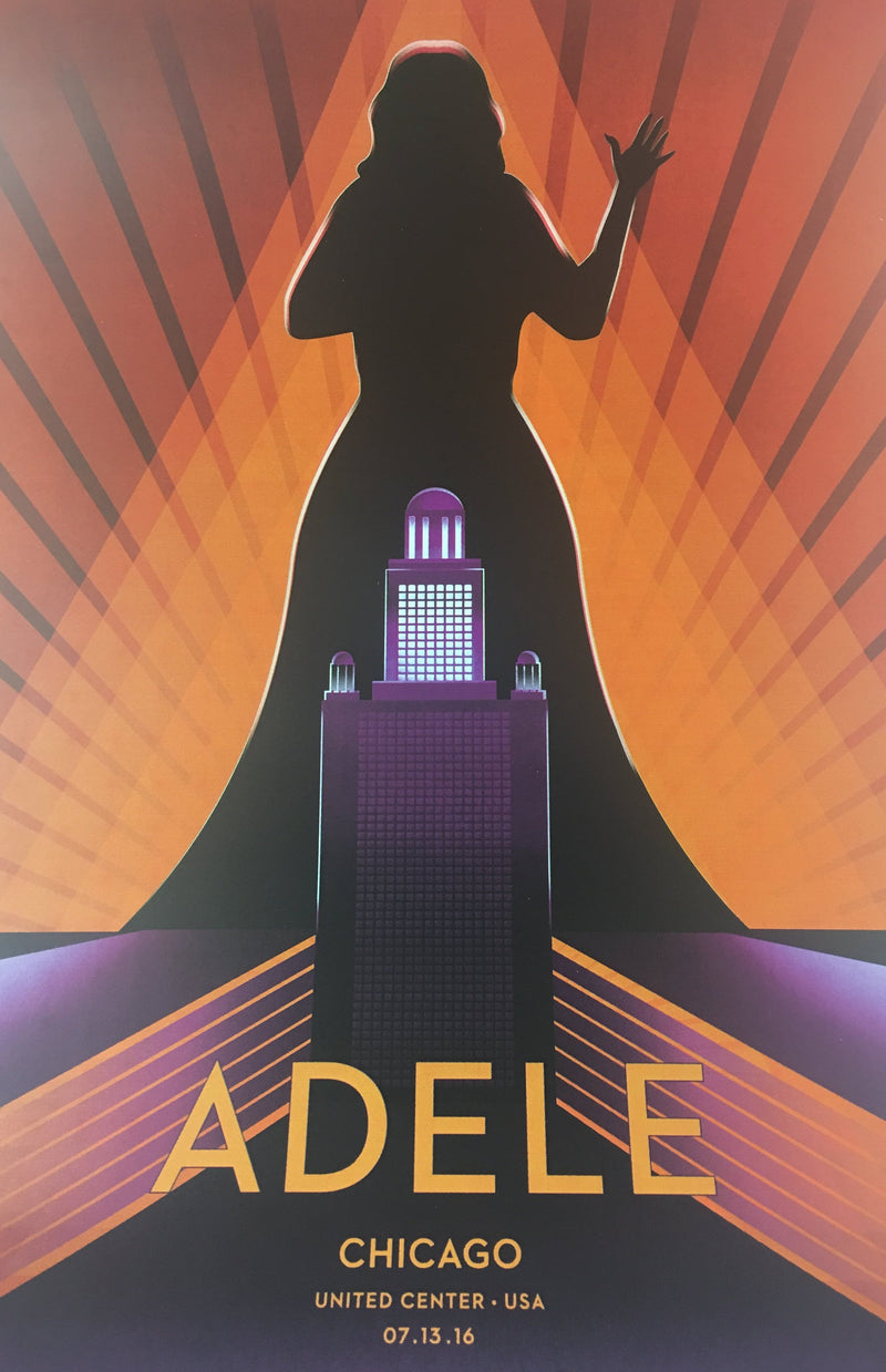 Adele - 2016 Matt Murphy Poster Chicago, IL United Center