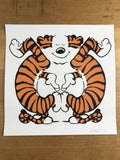 Enjoy - 2017 Jerkface poster Calvin and Hobbes street art