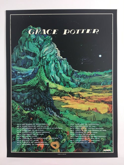 Grace Potter - 2015 Landland Poster Summer Tour