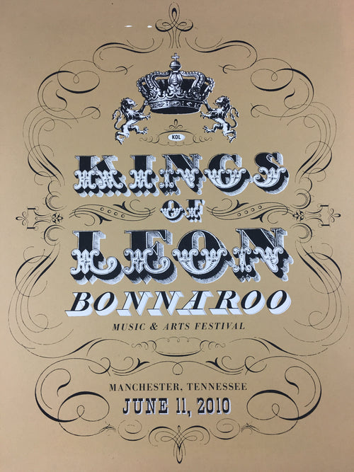 Kings of Leon - 2010 Kilroe Ibanez Bonnaroo poster music festival