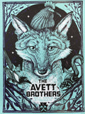 The Avett Brothers - 2016 Zeb Love poster Pittsburgh, PA Stage AE VARIANT BLUE
