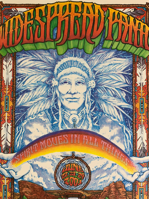Widespread Panic - 2001 Sean Gray poster Red Rocks Morrison, CO