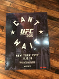 UFC 205 poster Can't Wait New York City Madison Square Garden