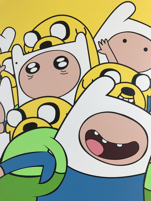 You Know What Time It Is - 2015 Jerkface poster street art Adventure Time S/N