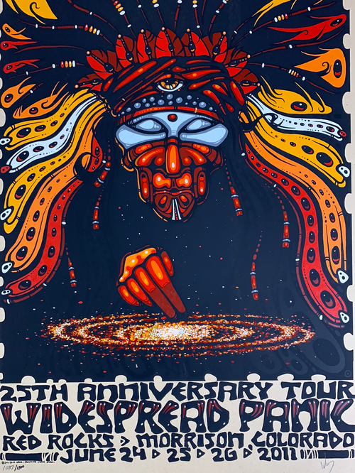 Widespread Panic - 2011 Jeff Wood poster Red Rocks Morrison, CO