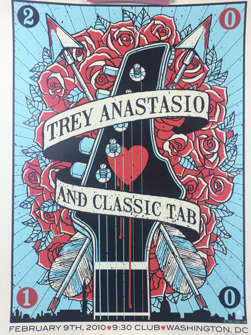 Trey Anastasio - 2010 Methane Studios Poster Washington, DC 9:30 Club